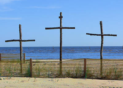 Photograph - Beach Crosses by Kathy K McClellan
