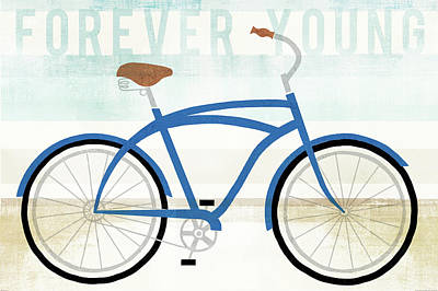 Forever Painting - Beach Cruiser Boys I by Michael Mullan