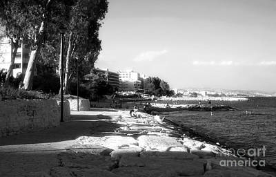 Cypriotic Photograph - Beach Day At Limassol by John Rizzuto