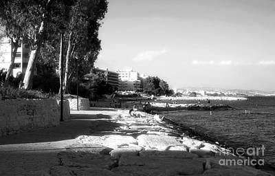 Beach Day At Limassol Art Print
