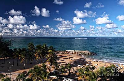 Beach Day At San Juan Art Print by John Rizzuto