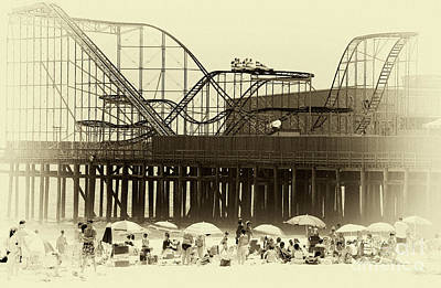 Roller Coaster Photograph - Beach Day At Seaside by John Rizzuto