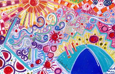 Beach Day In Wildwood Original by Deborah Burow