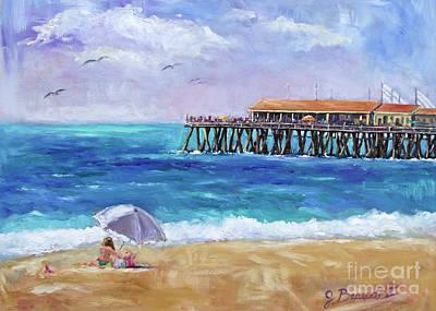 Redondo Beach Pier Wall Art - Painting - Beach Day by Jennifer Beaudet