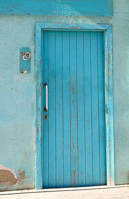 Spain Photograph - Beach Door Blue Of Barcelona by Calvin Hanson