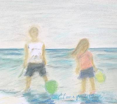 Beach Dreams Art Print by E Carrington