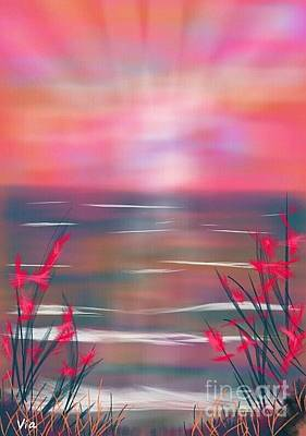 Painting - Beach Dreams by Judy Via-Wolff