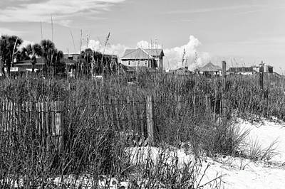 Photograph - Beach Dune Mono by John Rizzuto