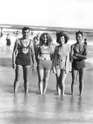 Galveston Photograph - Beach Fashion Parade Winners by Underwood Archives