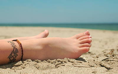 Photograph - Beach Feet by Tamyra Crossley