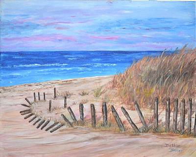 Painting - Beach Fence by Debbie Baker