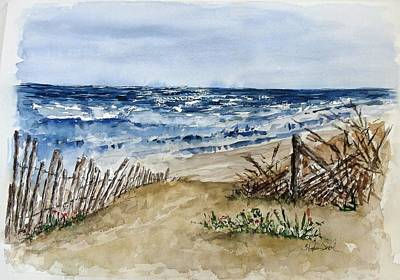 Painting - Beach Fence by Stephanie Sodel