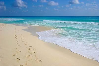 Beach Footprints Art Print