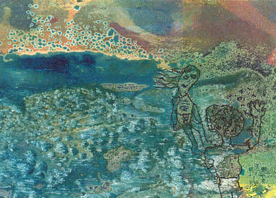 Art Print featuring the mixed media Beach Friends Flotsam And Jetsam by Catherine Redmayne
