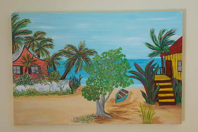 Painting - Beach Front Cottage by Patti Lauer