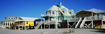 Beach Front Houses, Gulf Shores Art Print by Panoramic Images
