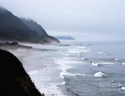 Beach Frontage In Monet Art Print