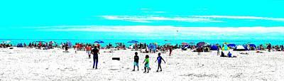 Beach Fun 3 Art Print