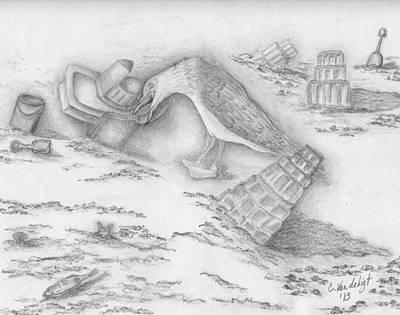 Beach Fun Art Print by Carolann Van de Ligt