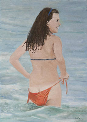 Painting - Beach Fun by Masami Iida