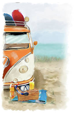 Beach Fun Art Print