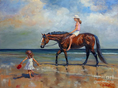 Recently Sold - Animals Royalty-Free and Rights-Managed Images - Beach Girls II by Jeanne Newton Schoborg