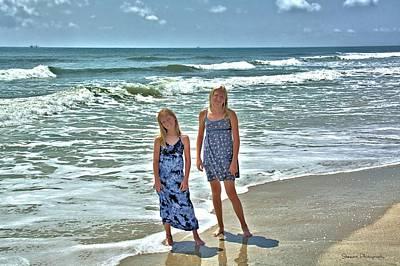 Photograph - Beach Girls by William Stewart