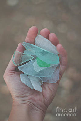 Long Island Photograph - Beach Glass Finds by Bethany Helzer