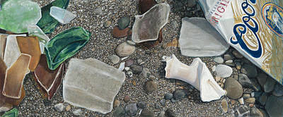 Painting - Beach Glass by Nick Payne
