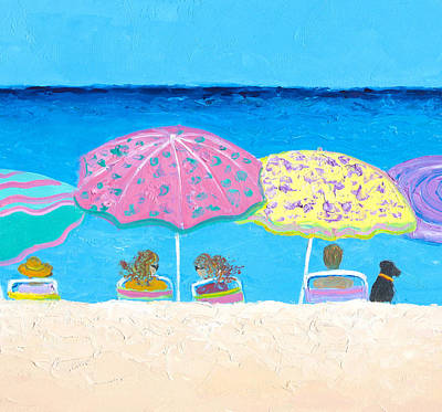 Beach Gossip Print by Jan Matson