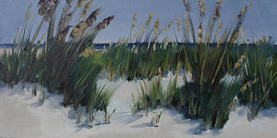 Painting - Beach Grass Waltz by Barbara Jones