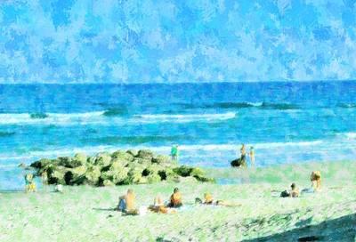 Beach Landscape Mixed Media - Beach Holiday On Boca  by Florene Welebny