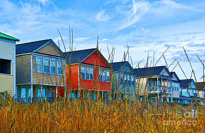Photograph - Beach Homes by Kathy Baccari