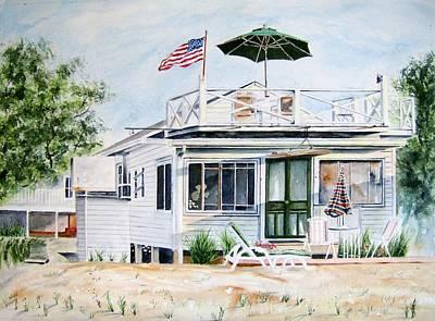 Beach House Art Print by Brian Degnon