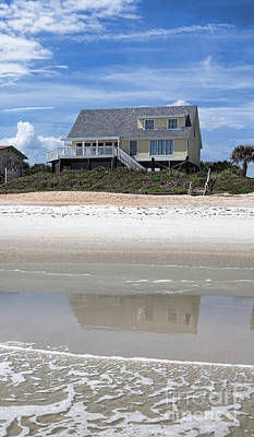 Beach House Art Print by Kay Pickens
