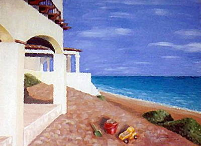 Painting - Beach House by Kume Bryant