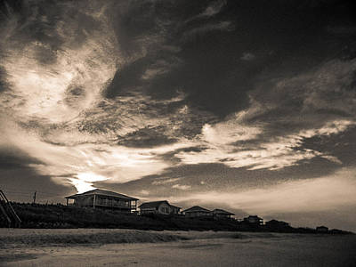 Photograph - Beach Houses At Sunset by Christy Usilton