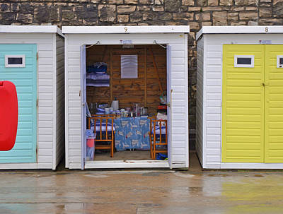 Photograph - Beach Hut At Lyme Regis by Nop Briex