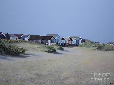 Painting - Beach Huts And Dunes by Linda Monk