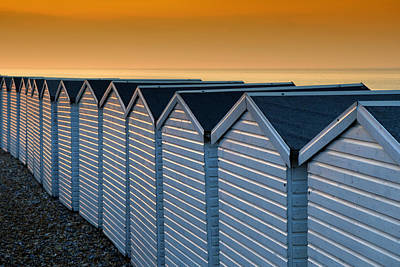 Photograph - Beach Huts At Sunrise by Mick House