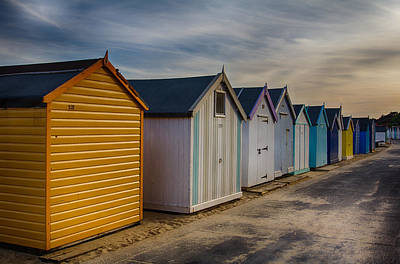 Photograph - Beach Huts At Sunset by Leah Palmer