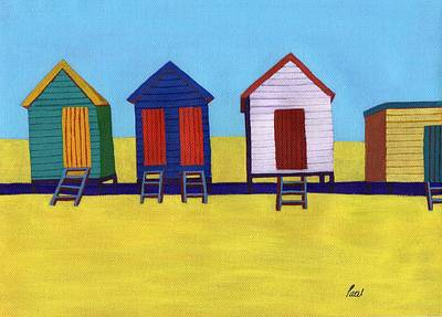 Beach Huts Art Print by Bav Patel
