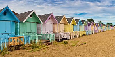 Photograph - Beach Huts by Gary Eason