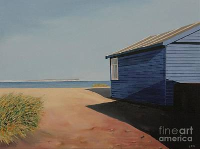 Beach Huts In The Sun Art Print by Linda Monk