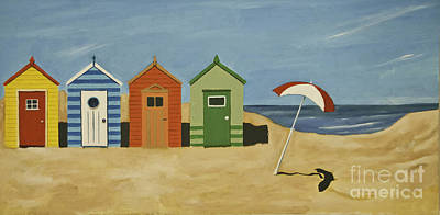 Painting - Beach Huts by James Lavott