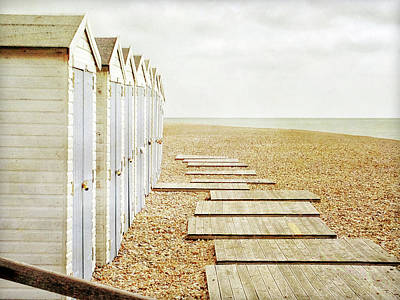 People On Beach Wall Art - Photograph - Beach Huts by Larigan - Patricia Hamilton