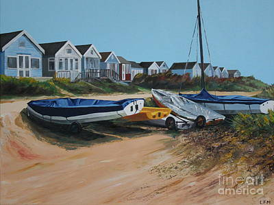Painting - Beach Huts by Linda Monk