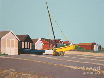 Painting - Beach Huts On The Sand by Linda Monk