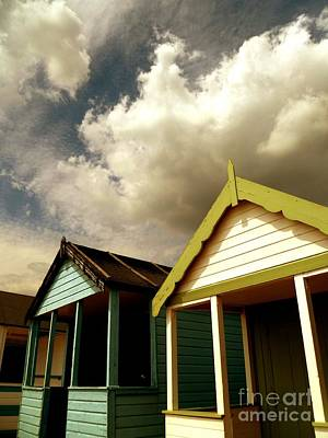 Print featuring the photograph Beach Huts by Vicki Spindler