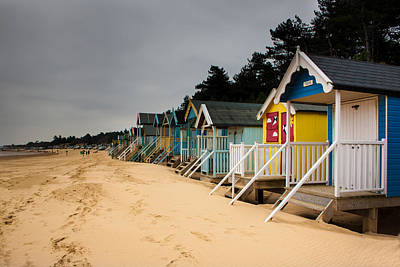 Photograph - Beach Huts Wells Next The Sea by Ken Brannen